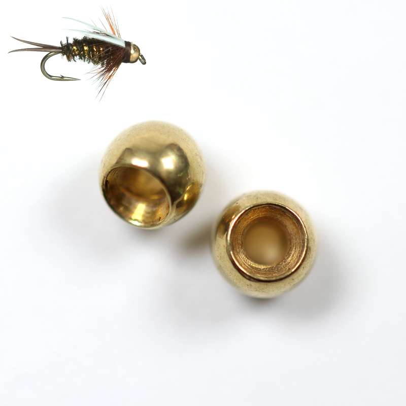 Wifreo 50pcs Fly Tying Brass Beads Nymph Bead Head Fly Tying Bead 2.3mm 2.8mm 3.4mm 3.8mm China Fly Fishing Material Wholesale tigofly 12 colors fly tying double head permanent waterproof marker pen set saltwater fly fishing drawing fly tying materials