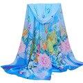 Мода шарф женщины Длинные прекрасный цветочный Печати Шарфа Дамы шали Большие Шарфы платки и шарфы платки femme топ продажа #39
