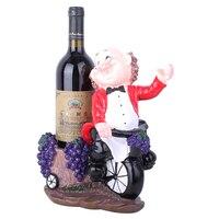 Creative Wine Racks Handmade Resin Crafts Chef Model Wine Holder Wine Cabinet Decor Birthday Gifts Home Decor Bar Accessories