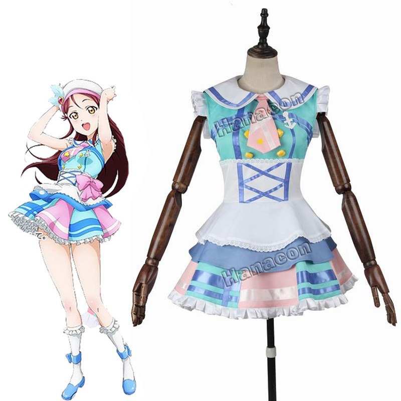Love Live!Aqours Sakurauchi Riko COSplay Costume Uniform Outfit Stage Suit Dress