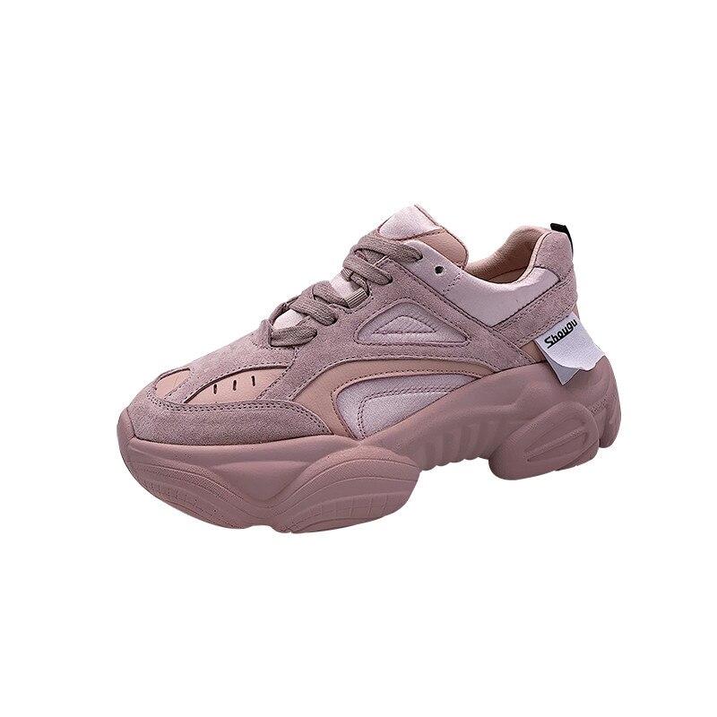 LMCAVASUN/Женская обувь на платформе, модные кроссовки на толстой подошве из искусственной кожи, DM61