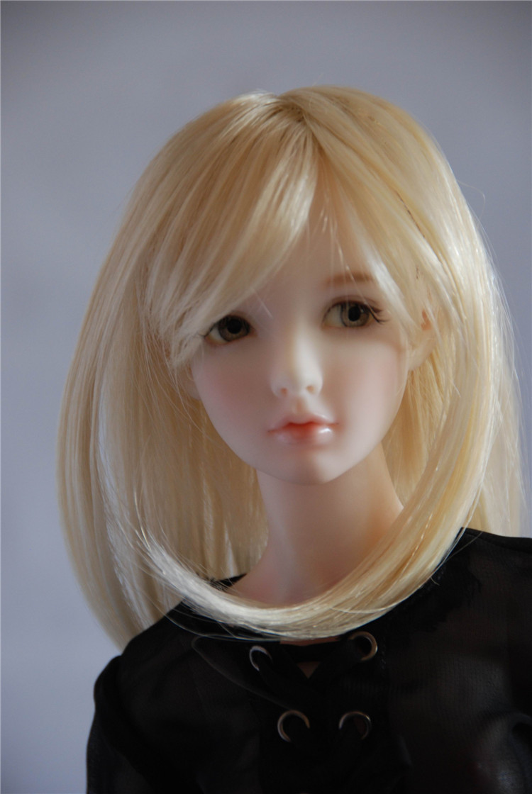 JD033 7-8inch MSD Manga Long Straight Wigs   1/4 Popular BJD Doll wigs 1 3 1 4 1 6 1 8 1 12 bjd wigs fashion light gray fur wig bjd sd short wig for diy dollfie