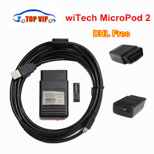 DHL Free 2018 Newest V17.04.24 Version witech MicroPod 2 OBD2 Diagnostic Tool witech MicroPod 2  Multi-Languages Scanner