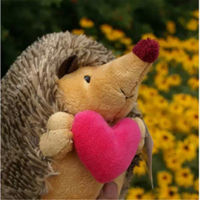 Soft Toys Kawaii Stuffed Animal 18cm 2pcs/pair Hedgehog Plush Toys Dolls Mini Plush Toys Dolls for Kids Birthday gift