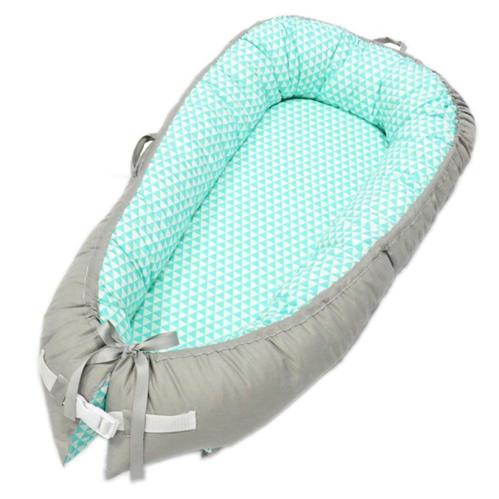 Baby Nest Bed Portable Crib Travel Bed Infant Toddler Cotton Cradle For Newborn Baby Bassinet Bumper 80*50cm