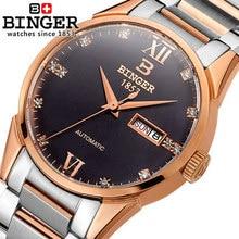 2017 Nouvelle arrivée Genève Binger montre hommes genève mode montre En Acier robe de luxe montres homme horloges Sports de Plein Air montres