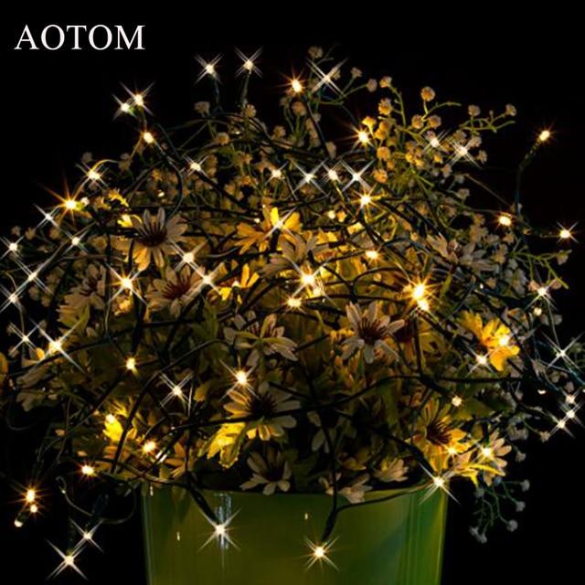 AOTOM 15m 100 LED Solar Power String Lights Christmas Lights Lighting For  Outdoor Waterproof Lights Warm