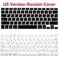 Tampa Do Teclado Russa Para Macbook Euro UE EUA Versão RUS Pro ar Retina 13 15 de Silicone Protetor de Teclado de Computador Para iMac
