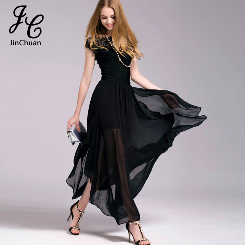 buy fashion 2018 summer women chiffon lace dress long ladies bohemia beach. Black Bedroom Furniture Sets. Home Design Ideas