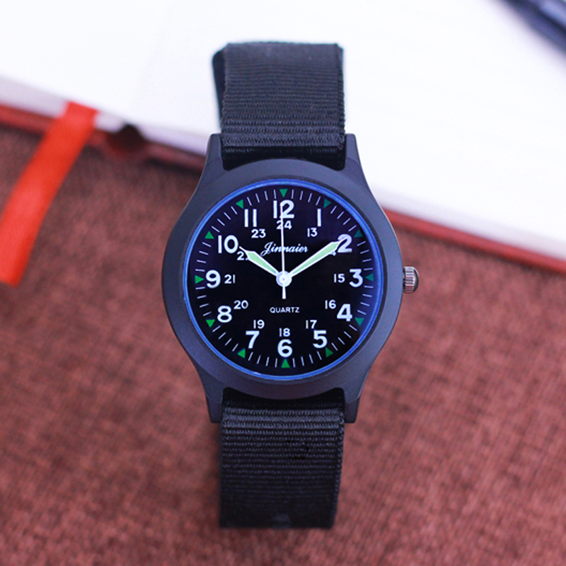 Casual Men Boys Leather Strap Fashion Quartz Luminous Hands Wristwatches Students Holiday Gifts Waterproof High Quality Clock Watches