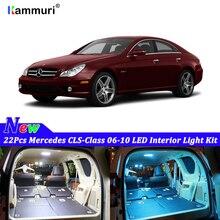 22 шт. белые светодиодные с CANBUS салона комплект ламп для Mercedes Benz CLS 2006 2007 2008 2009 2010 светодиодный внутренний свет комплект