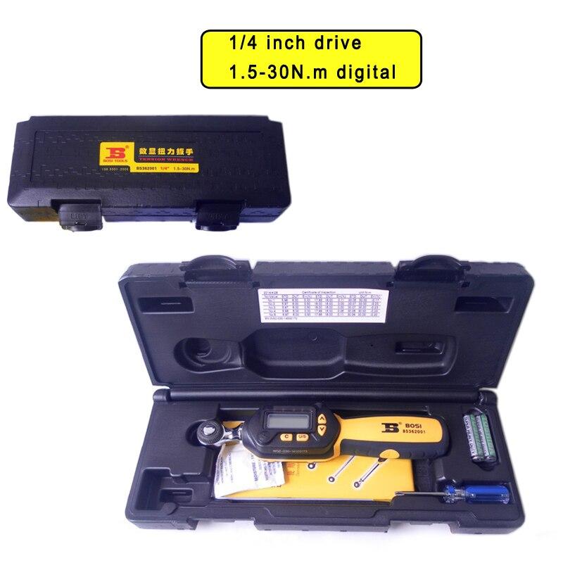 Bosi 1 4 39 39 1 5 30n m digital buzzer 6led torque wrench 4 for 4 unit
