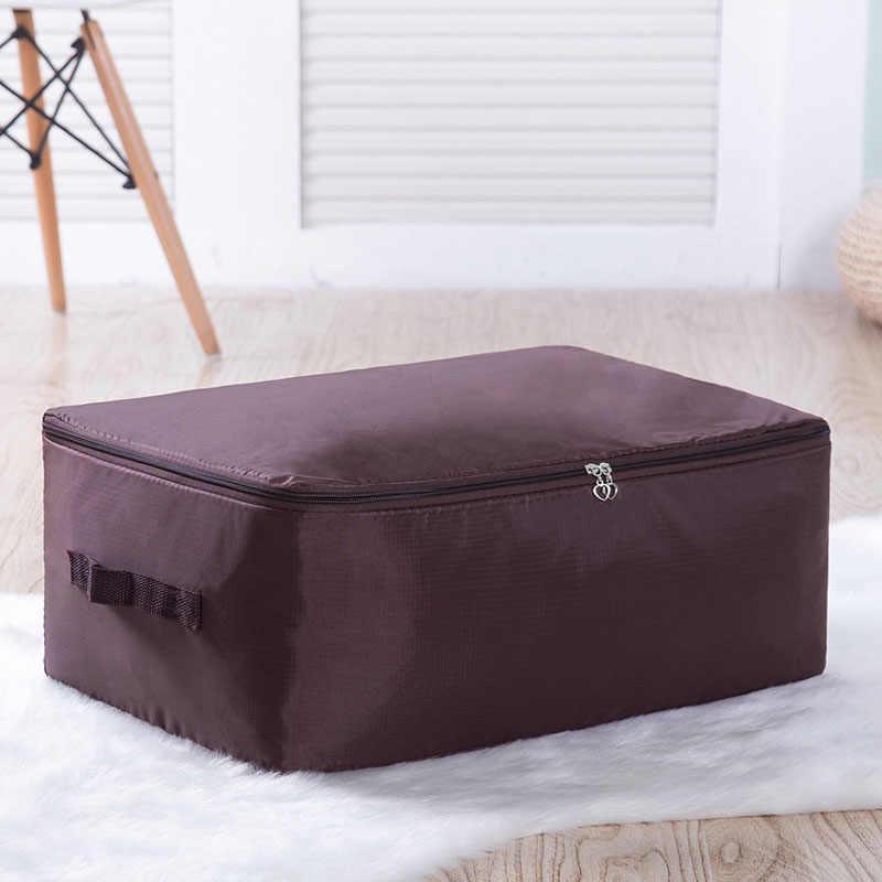 Tela Oxford debajo de la cama bolsa de almacenamiento armario organizador de ahorro de espacio Bolsa para ropa edredones ropa de cama almohada edredón a prueba de polvo