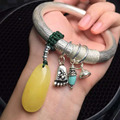 Peso total 40.3g prata pura cera de abelha natural lapis amaznoite pulseiras pulseiras para as mulheres das mulheres