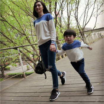 Family Matching Clothing Autumn Winter Striped Matching Mother Daughter Clothes Cotton Family Look Father Son Sweaters CA583 Family Matching Outfits