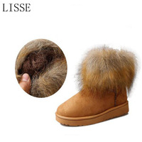 Lisse Fashion Top Quality Suede Snow Boots Women Boots Leather Winter Warm Snow Boots Ankle Boots