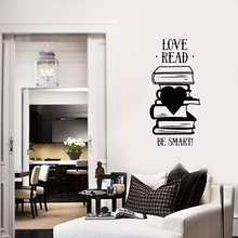 Books Quote Vinyl Wall Stickers Smart Phrase Library Reading Room Decal Mural Removable Bedroom Deco Home Decoration W236