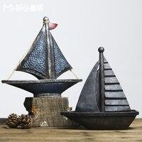 Nordic Retro Model Props Ornaments Home Furnishing Sailing Shop Window American Creative Small Living Room Decor