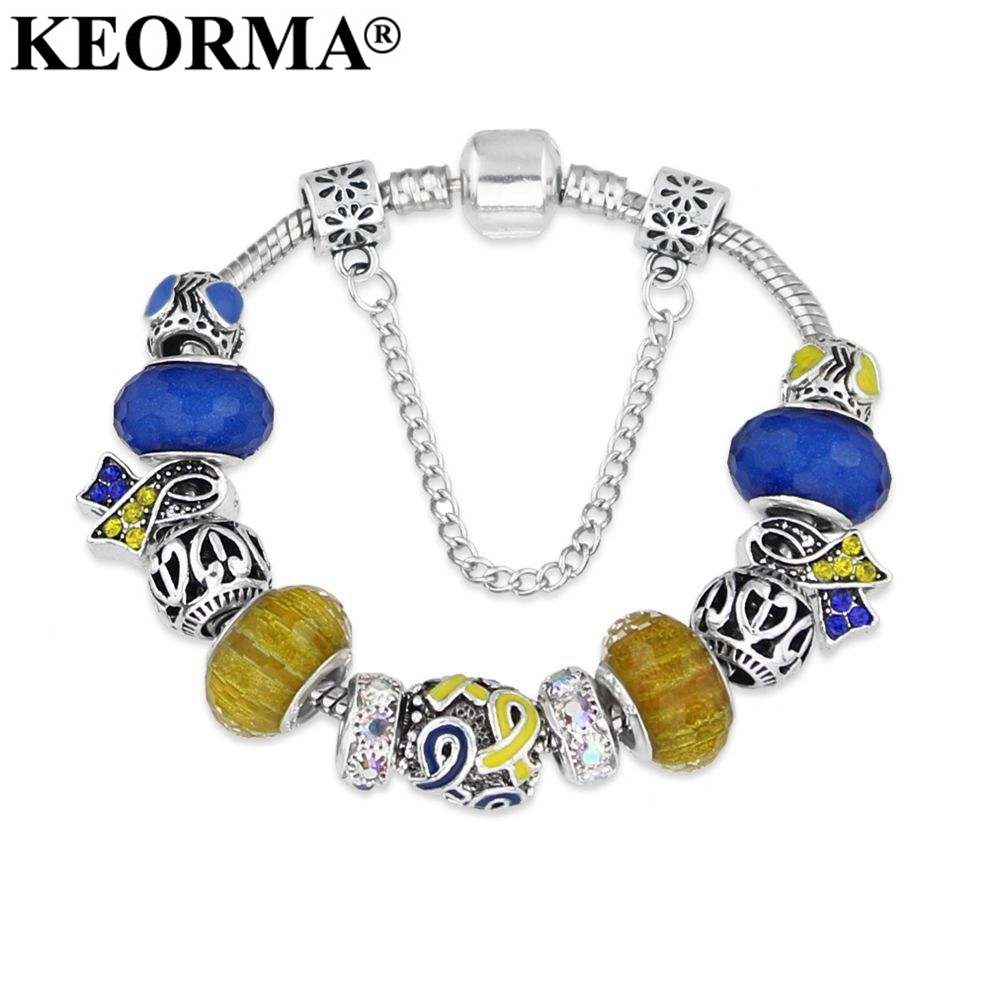 KEORMA Infinity Love Hope Down-Syndrom Armband Medical Awareness Charm Bracelet & Bangle für Männer Frauen Geschenk Schmuck Drop Ship