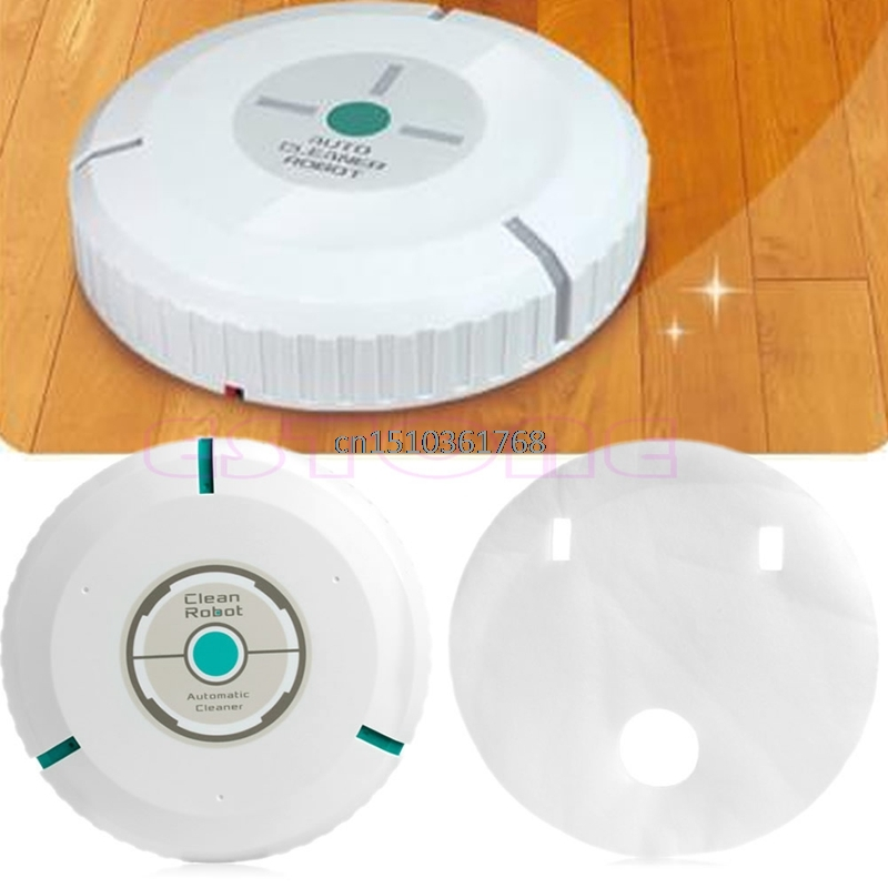 New Microfiber Mop Dust Household Robotic Smart Auto Cleaning Cleaner Robot White #Y05# #C05# good robot smart robotic auto vacuum cleaner w remote controller red 100 240v au plug