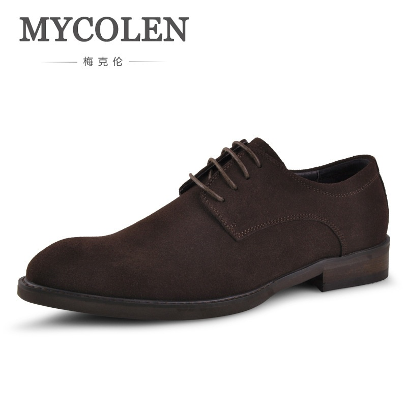 MYCOLEN Men's Casual Shoes New Style Fashion Trend Casual Cowboy Canvas Shoes Suede Leather Male Footware Lace-Up Spring Flats tept79001 trend ready letters casual style