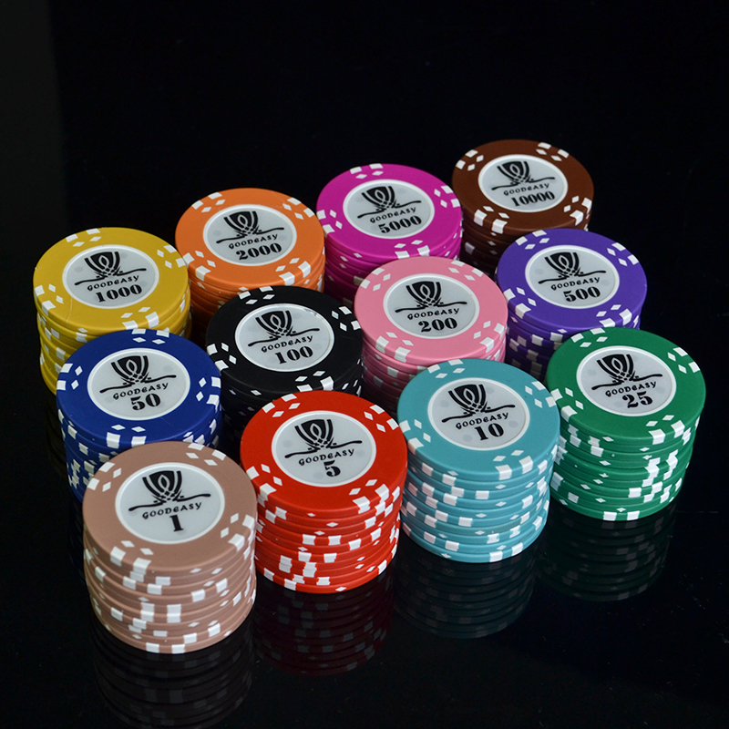 Dezhou 50PCS/Lot Coins Texas Hold'em Clay Poker Chips 14g Color Crown dezhou 50pcs lot coins texas hold em clay poker chips 14g color crown