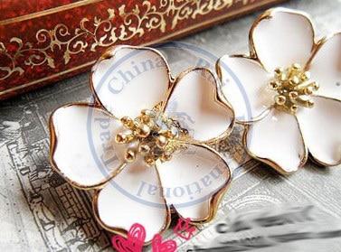 Stud Earrings ear rings Fashion for women Girls lady flower Jasmine design CN post