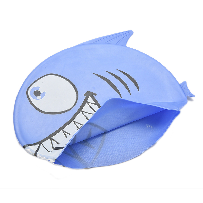 Dutiful Children Cartoon Silicone Swimming Cap Hat Cover Child Diving Fish Shark Pattern Protect Ears Swim Caps Pink Blue Color 1 Pc Fine Craftsmanship