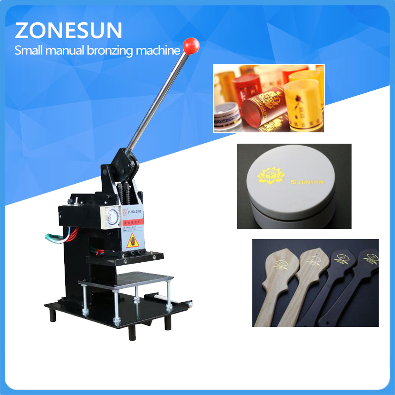 ZONESUN FREE SHIPPING Manual Hot Foil Stamping Machine Leather Logo Embossing Machine