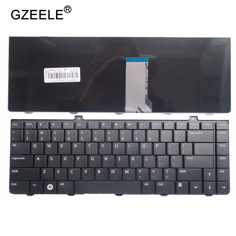 GZEELE New For DELL For Inspiron 1440 1320 14A Pp42L 1445 1450 P04S Laptop Keyboard US English Version Black