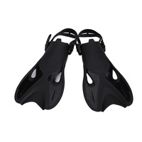 YAHEY Adjustable Swimming Fins For Diving Snorkeling 2018 Foot Flipper Portable Short Shoes Frog Swim Gloves Flippers For Adult