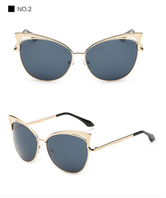 Luxury Cat Eye Sunglasses Women Brand Designer Retro Vintage Sun Glasses For Women Female Ladies Sunglass Mirror Lunettes Oculos (13)