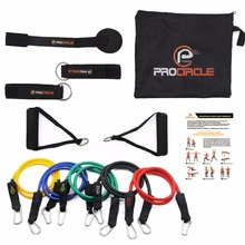Procircle Resistance Bands set - 11Pcs Expander Tubes Rubber Band For Resistance Training, Physical Therapy, Home Gyms Workout(China)