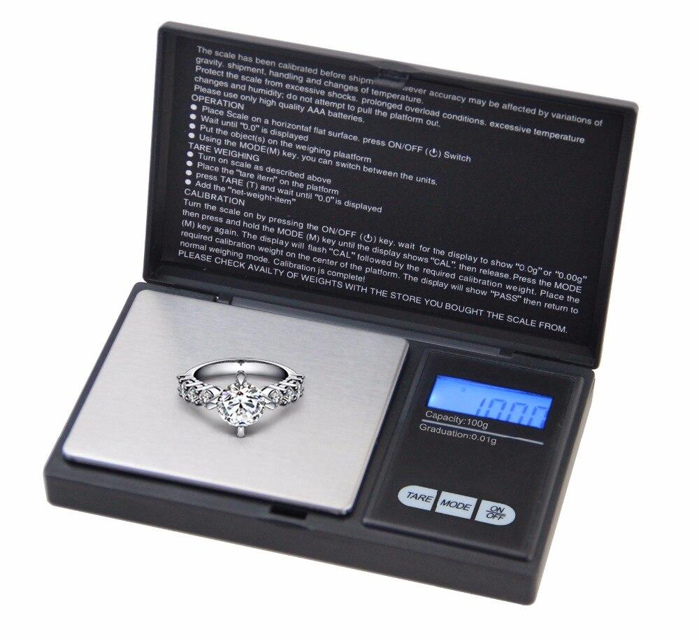 100g x 0.01g Mini Balança Eletrônica Digital Peso Escala de Medida de Laboratório Jóias Balanca 0.01g de Alta Precisão de Pesagem ferramentas