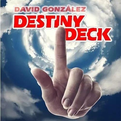 Destin Deck de David Gonzalez (Version vélo arrière) livraison gratuite tours de magie, accessoires, accessoires de mentalisme