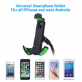 High Quality Universal 360 Rotation Gooseneck Car Phone Stand Holder with 2.1A Dual USB Car Charger for IOS & Android Phone