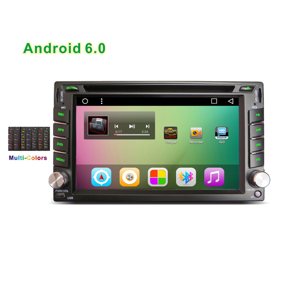 New 2din Universal 6 2 Android Car DVD multimedia player with font b GPS b font