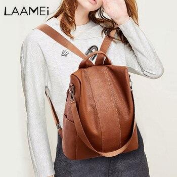 5ae031fd4d35 Laamei рюкзак женский ретро из искусственной кожи рюкзак женский рюкзаки  для путешествий и отдыха школьные сумки для девочек-подростков Bagpacks