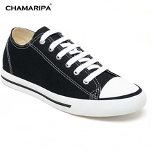 CHAMARIPA Classic Elevator Shoes Men Increase Height 6cm/2.36 inch Taller Board Shoes Canvas Sports Hidden Wedge H52C08K011D