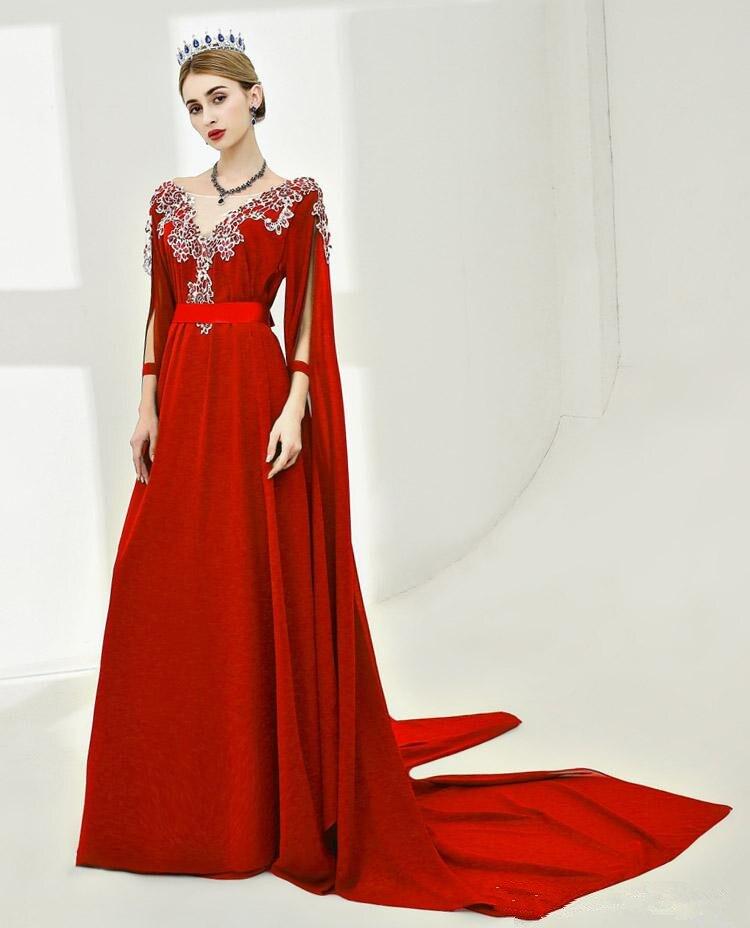 2018-royal-blue-red-v-neck-long-carpet-evening (2)
