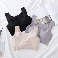 Seamless Lingerie Bras For Women Soft Cup Sleeping Bra  Push Up Bralette Shakeproof Fitness Wirefree Underwear Female #D
