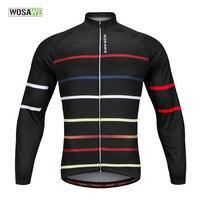 WOSAWE Winter Cying Jersey Warm Up Mountain Bike MTB Bicycle Long Sleeve Thermal Jersey Cycle Coat