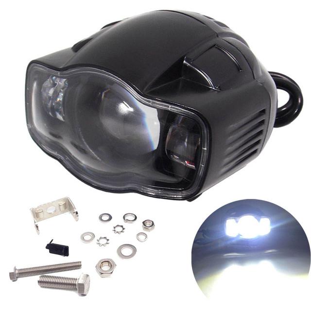Motocicleta 20 w faros led con función de carga usb proyector luz de niebla para honda haley yamaha ktm moto faro led lámpara