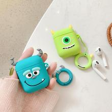 Bluetooth earphone case for airpods cute cartoon cover Silicone soft 3D with finger ring flower Mickey Minnie Sesame Street DIY