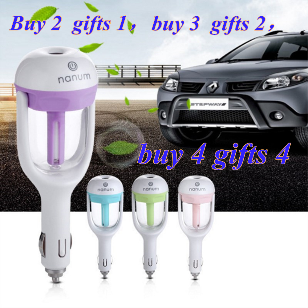 1PCS Car Aromatherapy Air Humidifier car Purifier air freshener Sprayer Water Essential Oil Fragrance Diffuser 50ml 4 colors