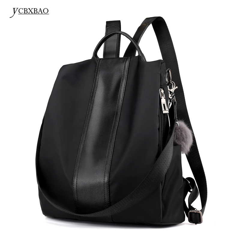 2018 New Backpack Casual Women Backpack Fashion Korean High Quality Female Waterproof PU Leather Bag School Bags for Students