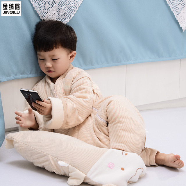sleeping bag children of silk cotton sleeping bag baby sleeping bag warm winter barhop anti kick by an explosion on behalf of