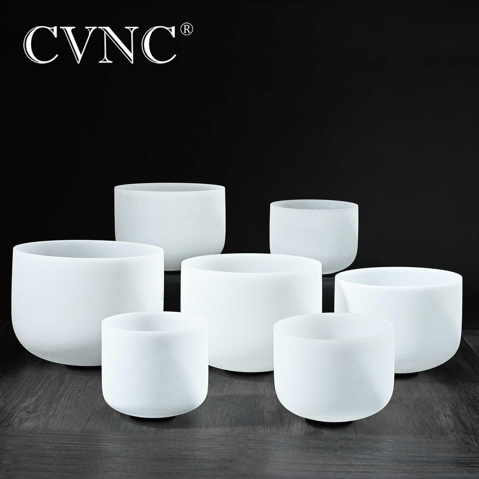 "CVNC 6 ""-12"" ملاحظة CDEFGAB مجموعة من 7 قطعة شقرا متجمد الكوارتز الكريستال جرس الموسيقى"