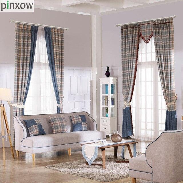 luxus schottland vorh228nge f252r wohnzimmer dicken karierten
