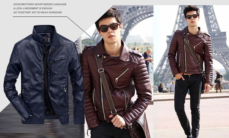 HTB1XZyvKbuWBuNjSszgq6z8jVXav DAVYDAISY 2019 High Quality PU Leather Jackets Men Autumn Solid Stand Collar Fashion Men Jacket Jaqueta Masculina 5XL DCT-245